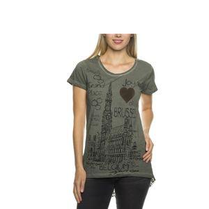 Tazzio Fashion Damen T-Shirt Khaki