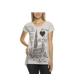 Tazzio Fashion Damen T-Shirt Grau