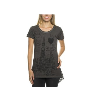 Tazzio Fashion Damen T-Shirt Anthrazit