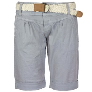 Fresh Made Damen Bermuda Shorts Hellgrau