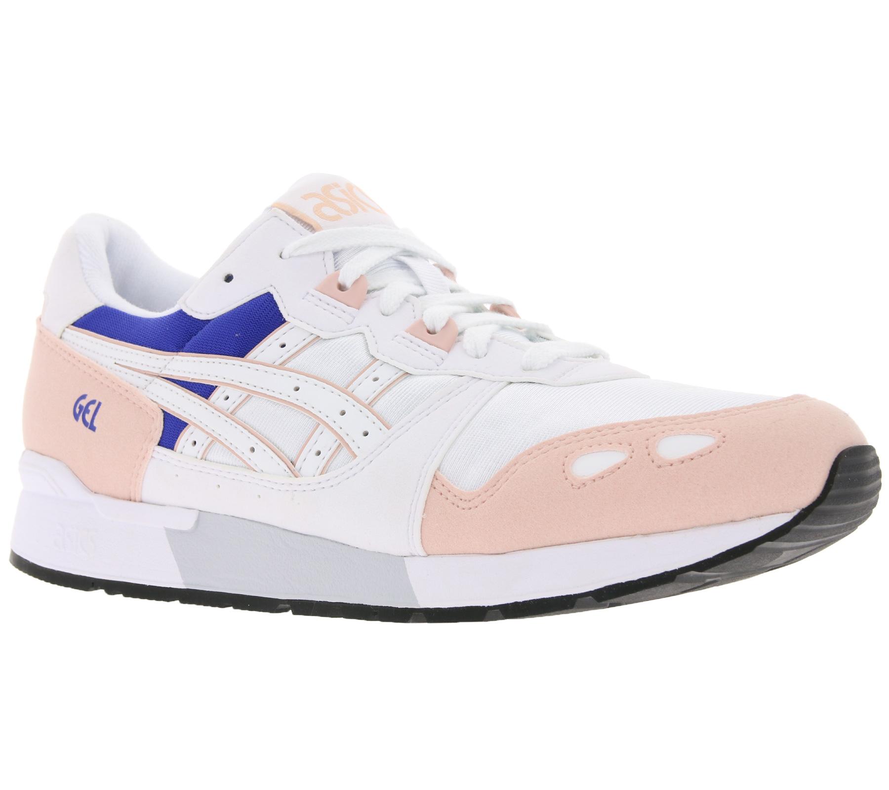 Details zu asics Sneaker Schuhe lässige Damen Turnschuhe Gel-Lyte Weiß/Rosa