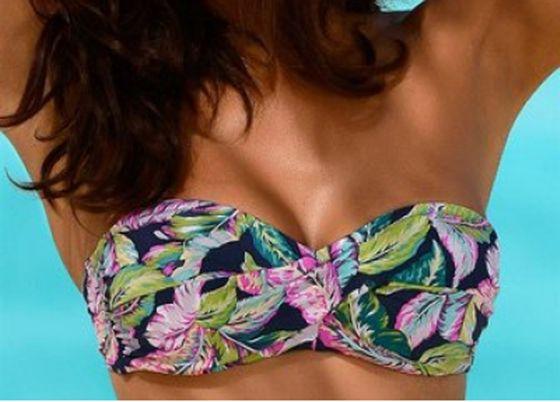 sunseeker Bikini leicht wattiertes Damen Sommer-Bandeau-Top C-Cup Bunt