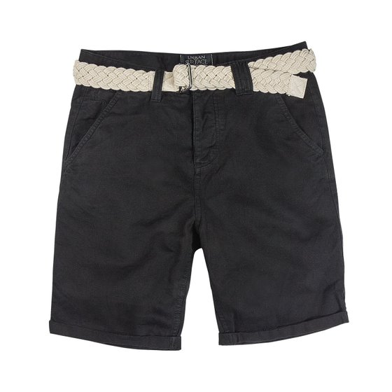 URBAN SURFACE Herren Chino Shorts Schwarz
