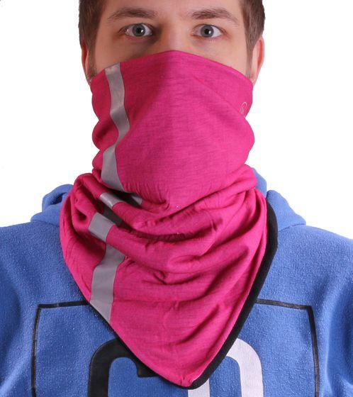 MaxFred neckerchief versatile kids multifunctional cloth with fleece pink