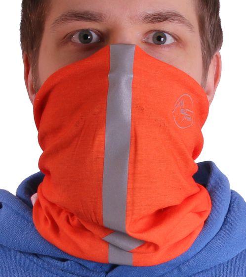 MaxFred Echarpe Extérieure en Tissu Respirant pour Enfants en Tissu Multifonctionnel Orange