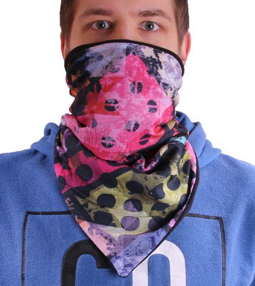 MaxFred Mundschutz-Wind-Maske Multifunktionstuch gemusterter Kinder Outdoor-Schal mit Fleece