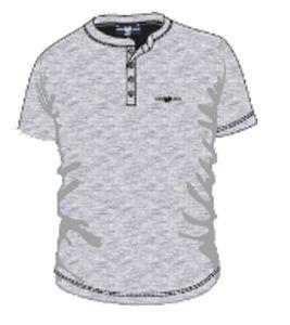 HARVEY MILLER POLO CLUB T-Shirt bequemes Herren Kurzarmshirt Grau