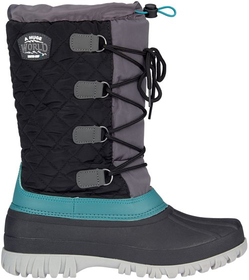 Winter grip Women Snow Boots Sr winter hikers Black Anthracite Green Gray Winter Shoes