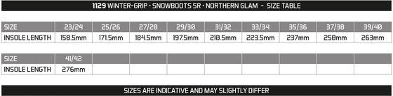 Winter grip Women Snow Boots Sr Northern Glam Beige Gray Light Pink Winter Shoes
