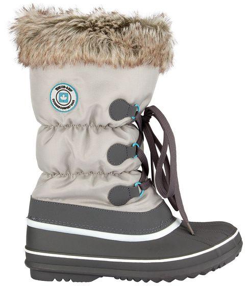 Winter-grip Damen Schneestiefel Sr Canadian Strapper Grau/Anthrazit/Smaragd Winter-Schuhe