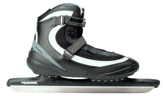 Nijdam Mens High-Speed Skate XXL Pro-Line Softboot Black  Silvergrey