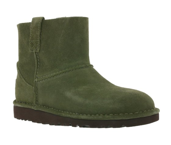 UGG Australia Real Leather Boots Casual Womens Low Boots Green