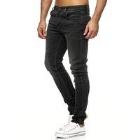 Tazzio Fashion Herren Skinny Fit Jeans Anthrazit 001