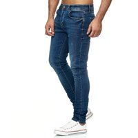 Tazzio Fashion Herren Skinny Fit Jeans Blau 001