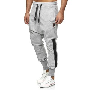 Tazzio Fashion Herren Jogginghose im Haremstil Grau