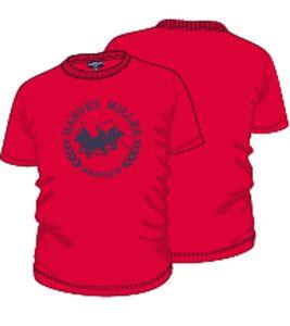 HARVEY MILLER POLO CLUB T-Shirt mit Logodruck bequemes Herren Baumwoll-Shirt Rot