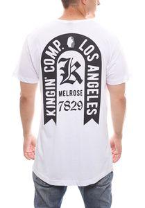 KINGIN Kurzarmshirt Oversized cooles Herren T-Shirt Weiß – Bild 4