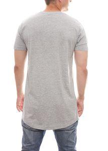 KINGIN Herren-T-Shirt modernes Kurzarmshirt Oversized mit Print Grau – Bild 4