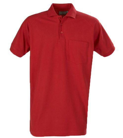 MACONE Pique Poloshirt sportliches Herren Kurzarmshirt Weinrot