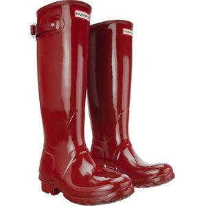 HUNTER Original Tall Damen Gummistiefel Rot Schuhe – Bild 5