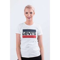LEVI'S The Perfect Logo Damen T-Shirt Weiß