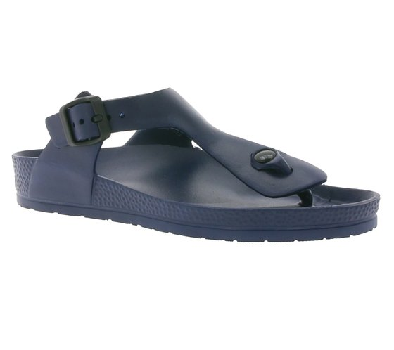 ZAPATO EUROPE Womens Toe Separator Comfortable Sandals Navy