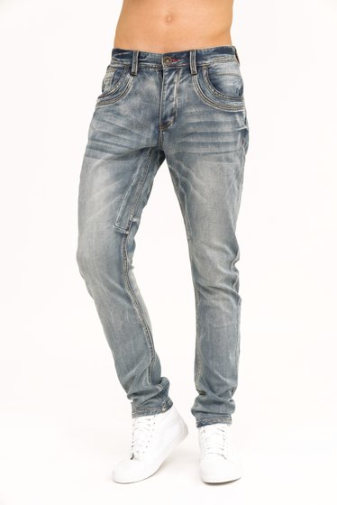 trueprodigy Vex 605 Herren Tapered Fit Jeans Darkstone