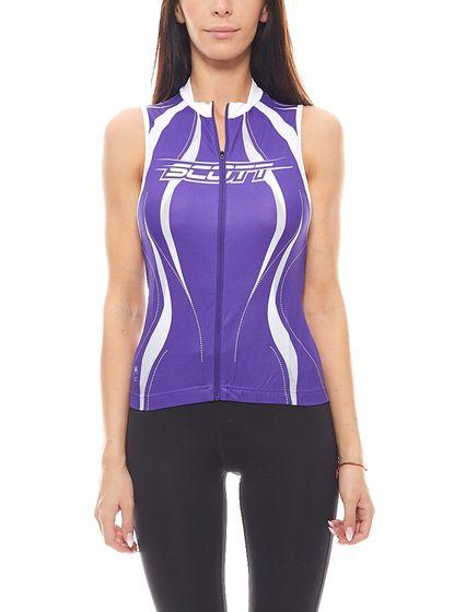 SCOTT Damen Biketrikot enganliegendes Sportshirt Violett