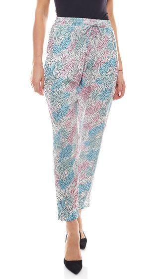 Pantalon dété CleptoMANICX coupe ample pantalon femme Elsa Memphis blanc