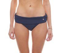 BEACHLIFE Badehose klassischer Damen Bikini-Slip mit Umschlagbund Blau