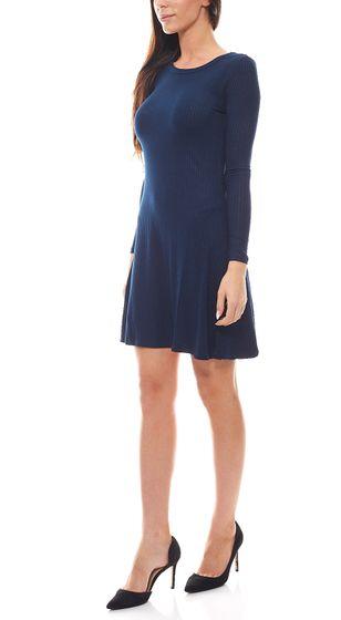 FUNKY BUDDHA Summer Dress Classic Mini Dress Long Sleeves Navy