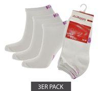 3er Pack Kappa Sneaker-Socken klassische Sportsocken Weiß/Pastell Pink