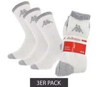 3er Pack Kappa Tennissocken klassische Socken Weiß/Grau – Bild 1
