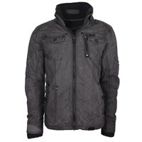 khujo Herren Winterjacke Grey Spray