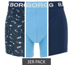 BJÖRN BORG Nautica Mono Herren 3er Pack Boxershorts Blau