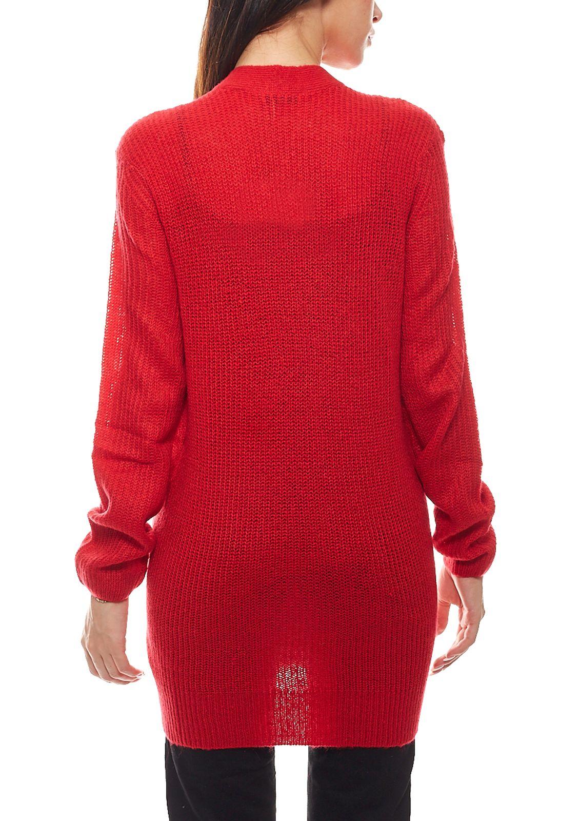 Tom Tailor Cardigan kuschelige Damen Long-Strickjacke Jacke Freizeit-Jacke Rot
