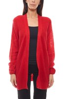 Tom Tailor Cardigan kuschelige Damen Long-Strickjacke Rot