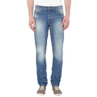 REVIEW Slim Fit Jeans Stone Waschung Herren Hose Denim Blau