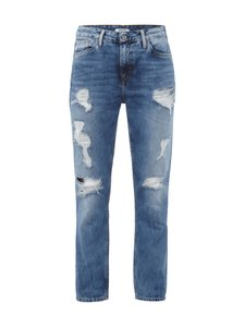 PEPE JEANS Regular Fit Jeans Destroyed Look Damen Hose Denim Blau