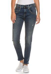 LIEBESKIND BERLIN 5-Pocket Stretch-Used-Look Damen Jeans Blau