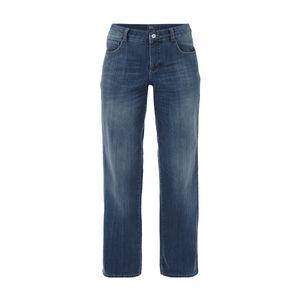 MAC Stone Washed Straight Fit Jeans Damen Hose Blau meliert