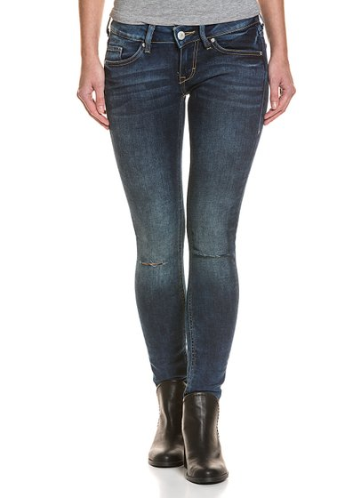Mustang 5-pocket cut-outs womens jeans Dark Blue Used