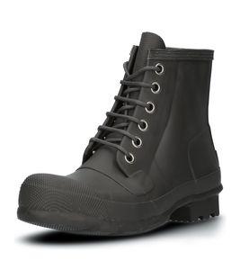 HUNTER Org Rubber Lace Up Herren Schnürschuhe Grau Schuhe