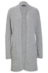 MORE & MORE Damen Strickjacke Grau