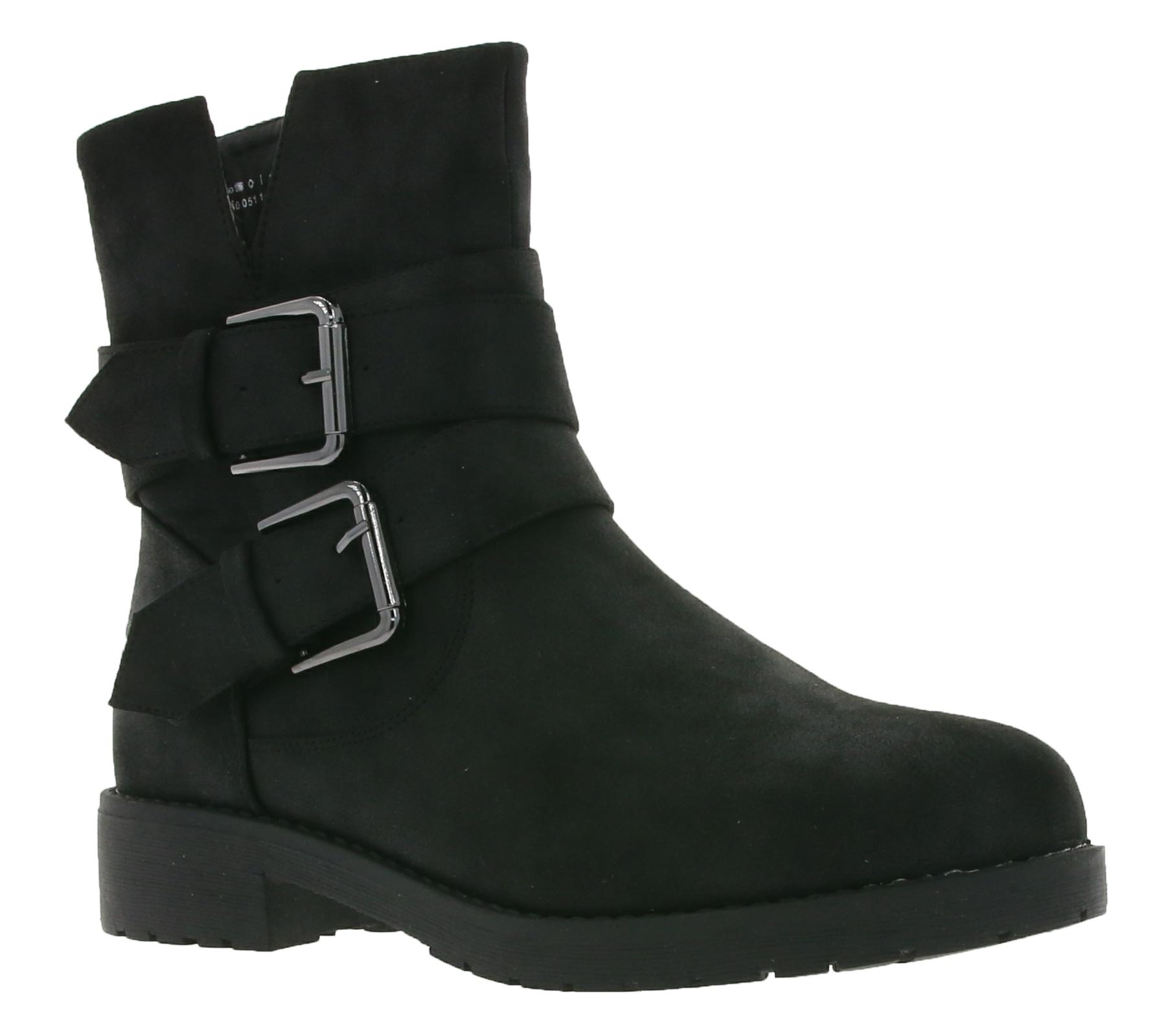 Buckle Modern Ladies Sue Boots Onygo Black PkZuOiXT