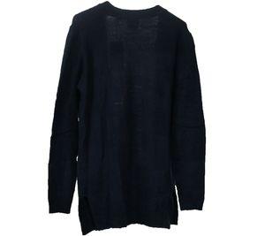 FUNKY BUDDHA Herren Strick-Jacke flauschiger Cardigan Marine Blau – Bild 2