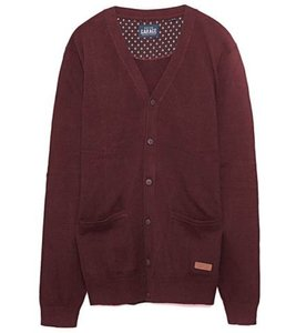 Garage 55 Strick-Jacke cooler Herren Cardigan Bordeaux