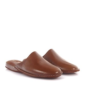 Artioli Herren Hausschuhe Pantoletten Capretto Leder braun Schuhe Made In Italy – Bild 1