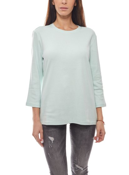 Eddie Bauer Sweater Slim Fit Timeless Ladies Long Sleeve Shirt Mint