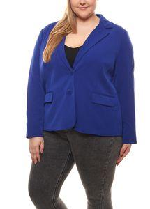 FAIR LADY Stretch-Blazer hochwertig strukturierter Damen Kurz-Jacke Große Größen Lila